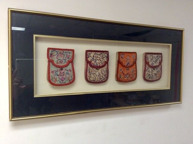 Framed Embroidered Pouches