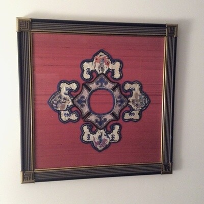Framed Asian Embroidery