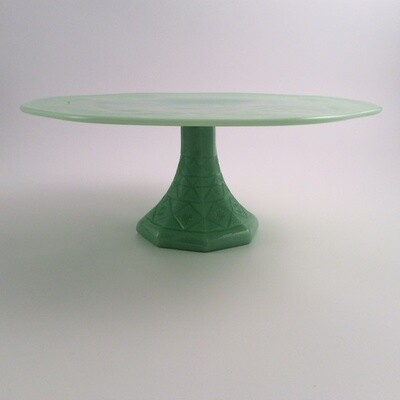 Green Glass Cake Stand
