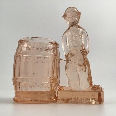 Glass Charlie Chaplin Toothpick Holder