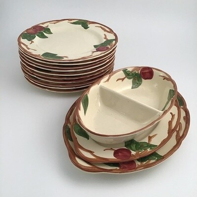 Franciscan Apple Earthenware Plate Set
