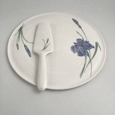 Christopher Stewart Cake Plate And Server Bone China