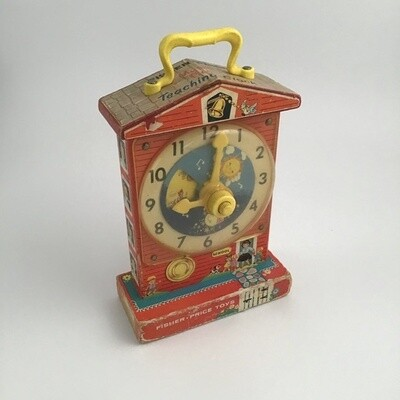 Fisher Price Magic Box Teaching Clock 998 '62 68