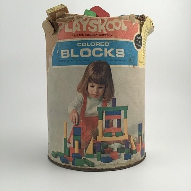 70s Era Playskool Wooden Blocks