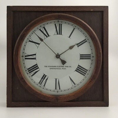 Antique Standard Electric Time Co. Wall Clock