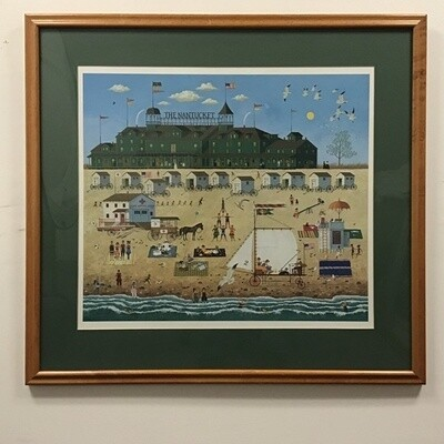 Charles Wysocki Limited Edition Print. Framed, Signed And Numbered