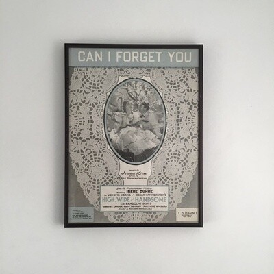 """Can I Forget You"" Framed Song Sheet"