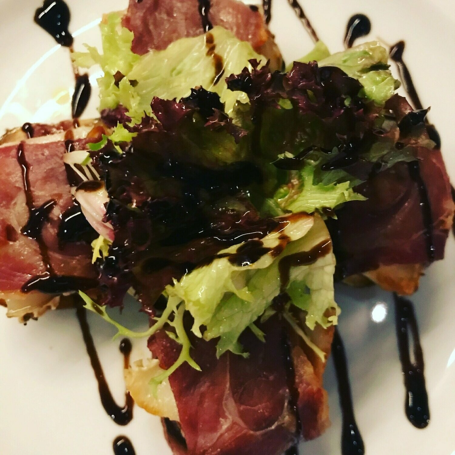 Baked Figs and Goats Cheese Wrapped in Parma Ham, Mixed ...