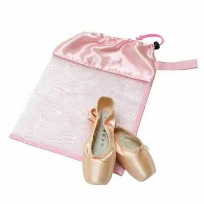 HD H8226 LIGHT PINK MESH POINTE SHOE BAG