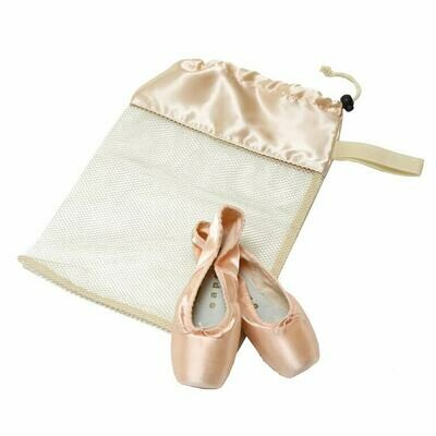 HD 8222 IVORY MESH POINTE SHOE BAG