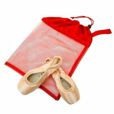 HD 8228 RED MESH POINTE SHOE BAG