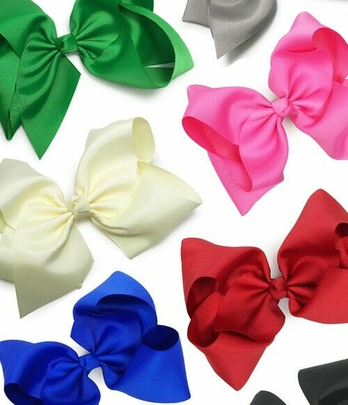 MWF 352649 ASST SOLID HAIR BOWS