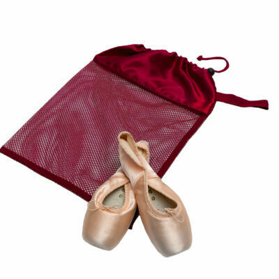 HD H8229 BURGONDY MESH POINTE SHOE BAG