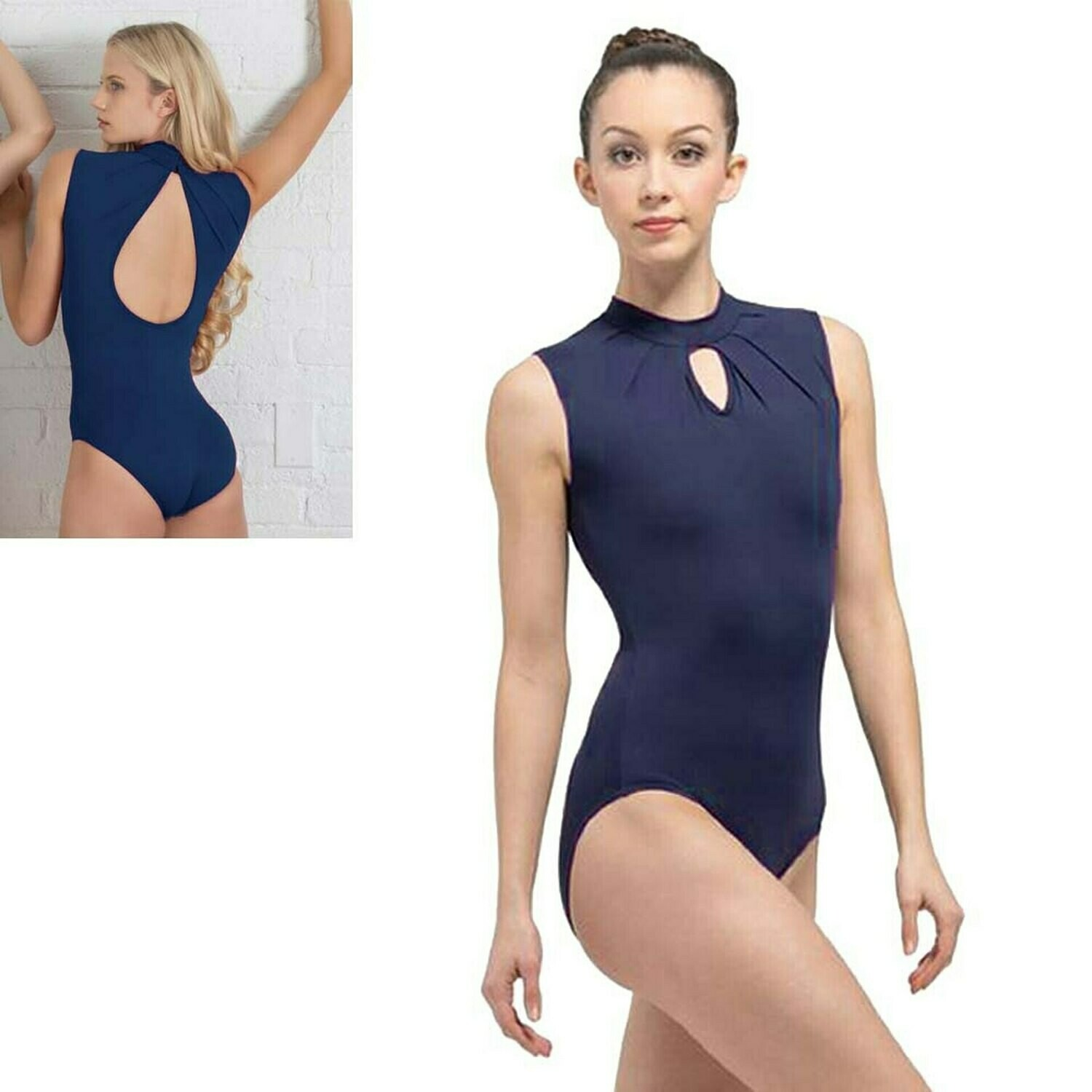 BR ADULT CELESTINE HIGH NECK LEOTARD