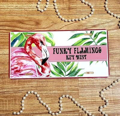UF  Funky Flamingo Car Plate