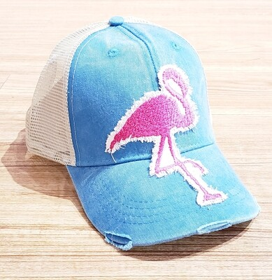 IT Teal Large Flamingo Trucker Hat