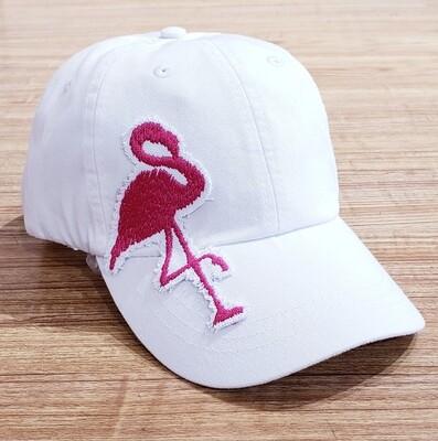IT White Hat Pink Flamingo