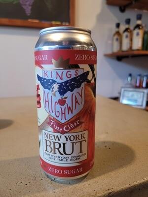 Kings Highway Brut Cider 16 oz. Can