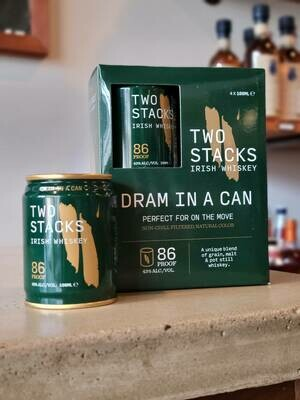 """Two Stacks Blended Whiskey """"Dram in a Can"""" 100ml"""