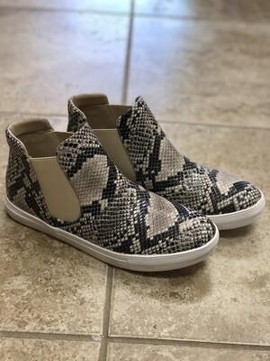 Jaira Snakeskin Sneakers