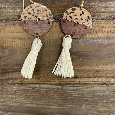 Tassel Wood Earrings