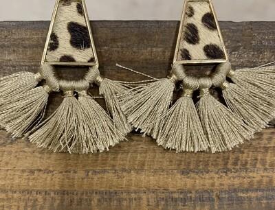 Tassel Animal Print Earrings