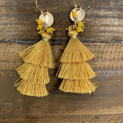 Tassel Layered Earrings