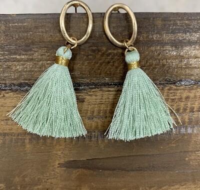 Tassel Loop Earrings