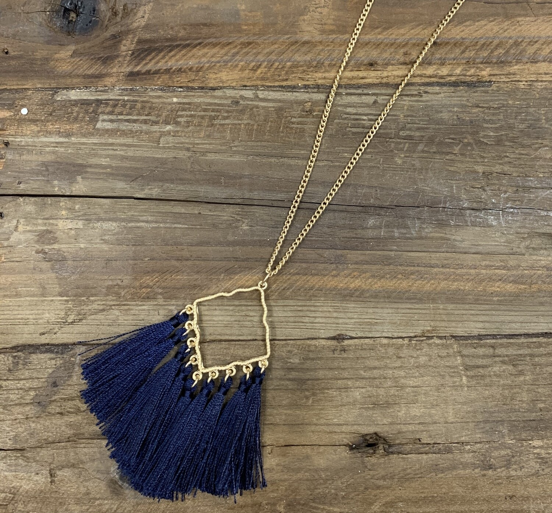 Tassel Geo Pointed Necklace