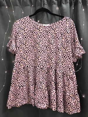 Blossom Leopard Babydoll Top