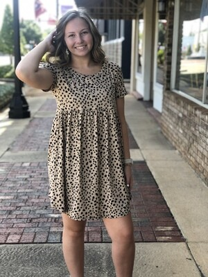 Taupe Speckled Babydoll Tunic