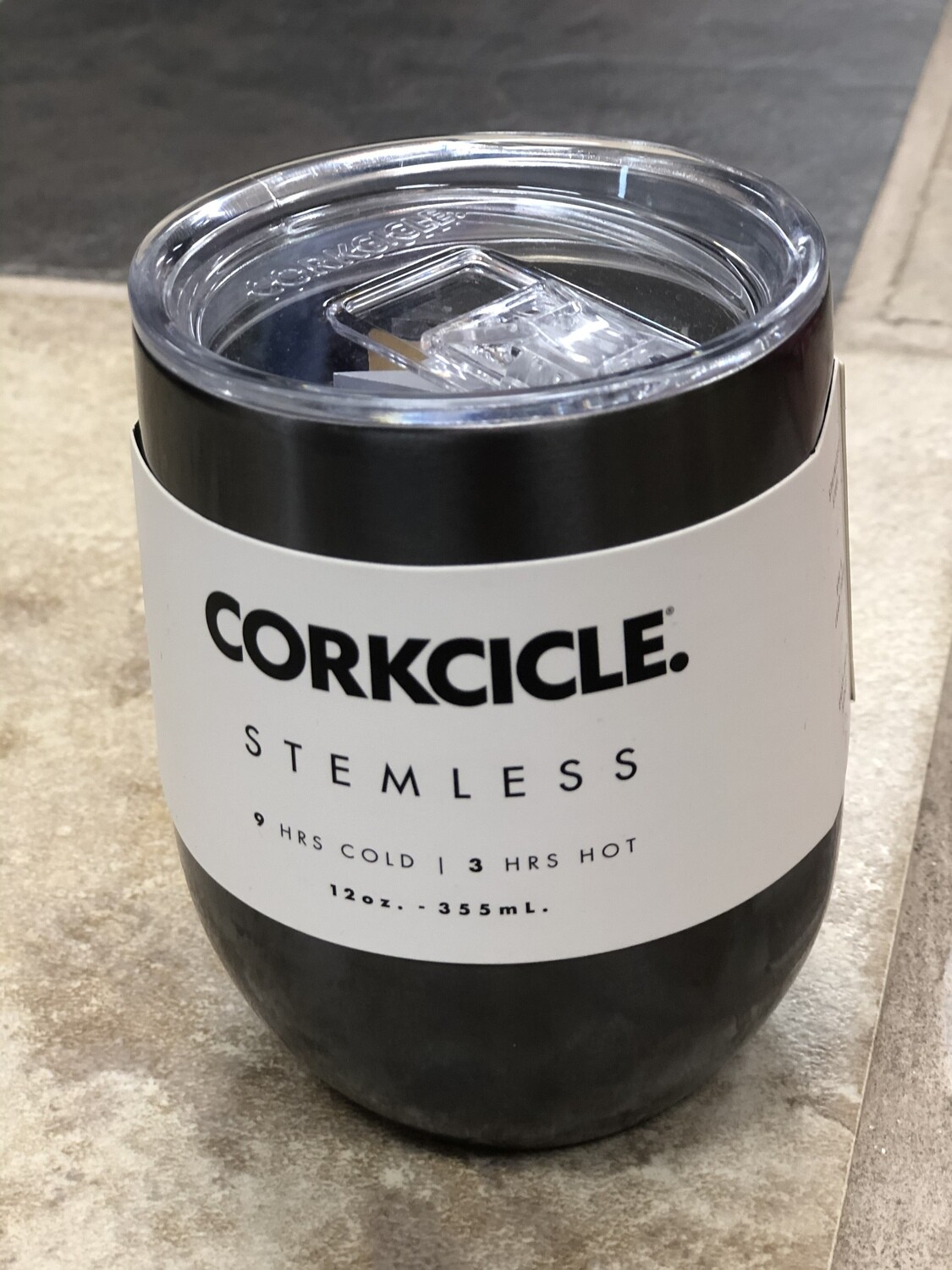 12 oz Gunmetal Corkcicle Stemless