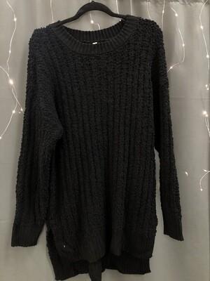 Black Popcorn Sweater
