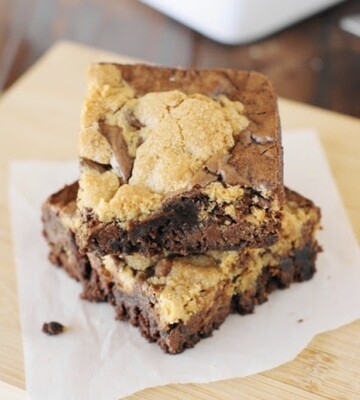 V Cookie Dough Brownies
