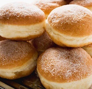 Lemon Curd & Cream Filled Doughnuts