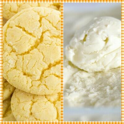 Lemon Crinkle Ice Cream Sandwich