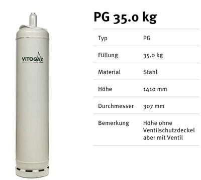 Stahlflasche 35 Kg