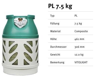 Kunststoffflaschen Prolight 7.5 Kg