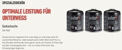 Weber Gas-Kartusche 3er-Pack