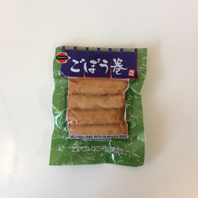 J-Basket Gobo Maki Fried Fish Cake with Burdock Root (Frozen)
