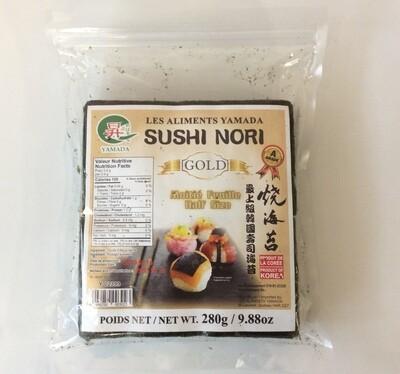 Yamada Nori Roasted Sushi Sheets Half Size