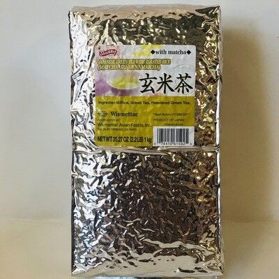 Shirakiku MatchaIri Genmaicha Green tea with Roasted Rice 2.2LB