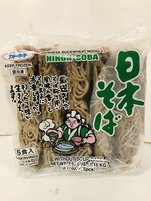Katokichi Soba Buckwheat Noodle 5pc Frozen