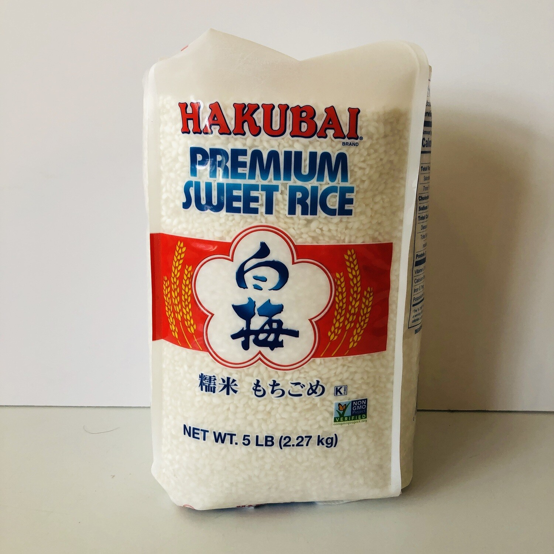 Hakubai Sweet Rice 5LB