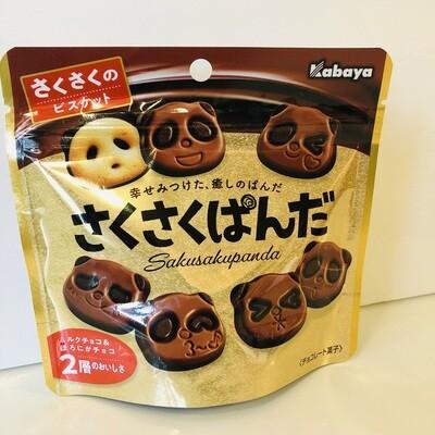 Kabaya Sakusaku Panda Chocolate Biscuit