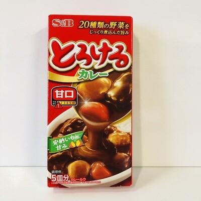 S&B Torokeru Curry Mild Half Size