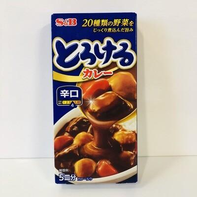 S&B Torokeru Curry Hot Half Size