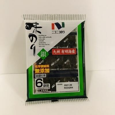 Nico Nico Ajinori Seasoned Seaweed Japan 6p