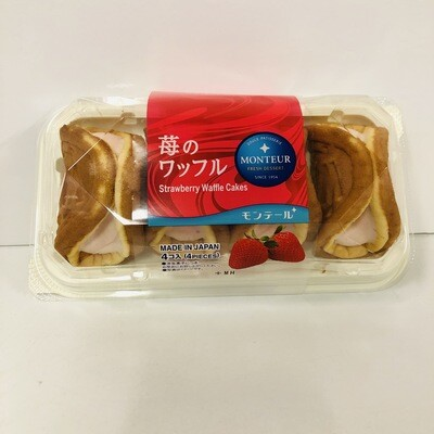 Monteur Strawberry Waffle 4pc