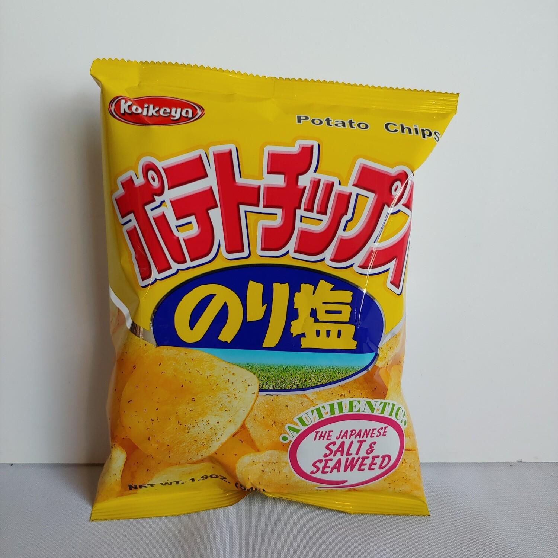 Koikeya Potato Chips Salt & Seaweed